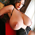 Black Zipper Swimsuit - Candids - Huge tits in your face! - image